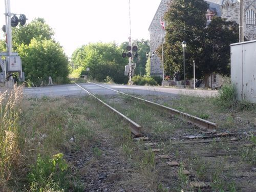 Rail line on little bridge street