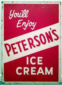 Peterson's Ice Cream sign