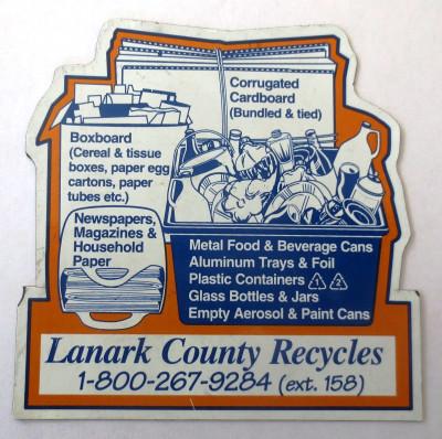 Lanark County Recycle Fridge Magnet
