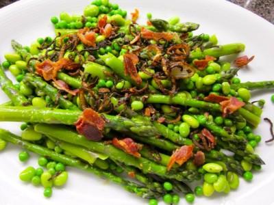 asparagus pea fava salad
