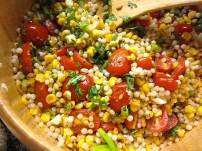 tomato corn couscous salad