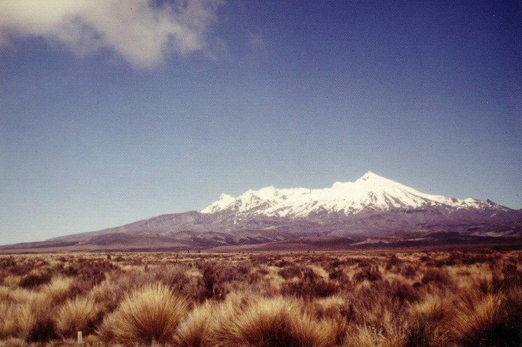 Mt. Ruapehu, the largest active volcano in New Zealand