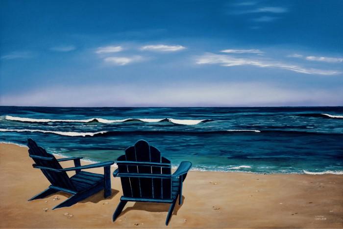 Blue Chairsemail size, Louise Lafleur