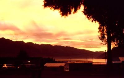 Sunset in Queenstown