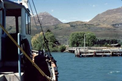 The ferry coming in to Glenorchy