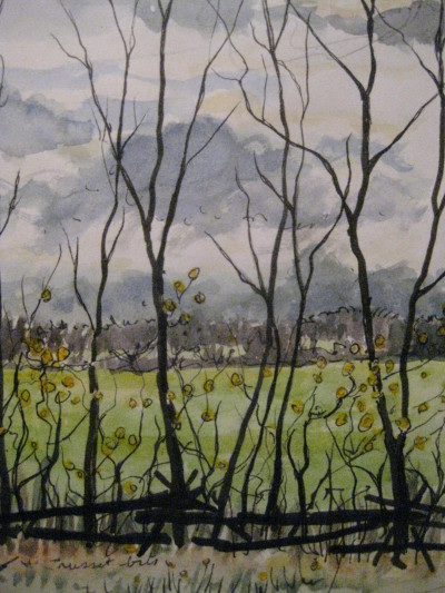 Nov. fields, painting
