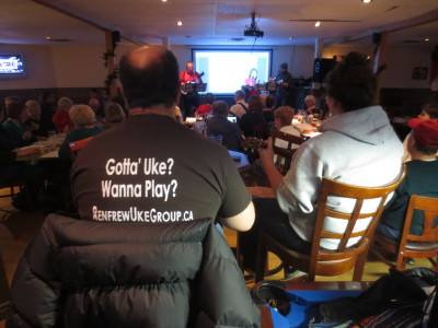 Ukulele enthusiasts from around the valley gathered last Thursday night At JR's Restaurant in the Downstairs Pub to raise money for the Philippines Typhoon Haiyan Relief Fund.
