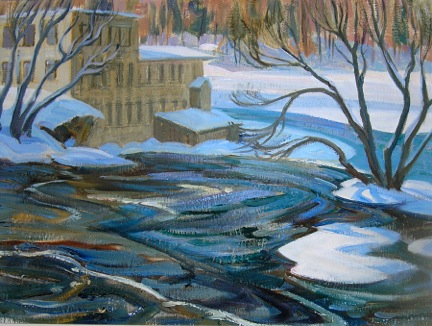 MIll at Almonte by Doris McCarthy