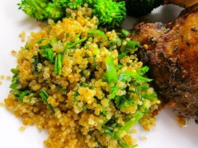 quinoa with herbs
