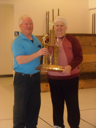 left to right: Winners Ben Burger and Sandra Lowry