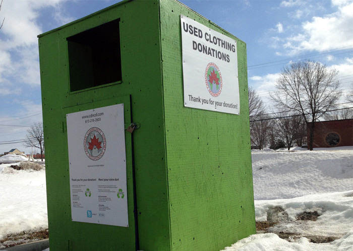 A bin on Ottawa Street