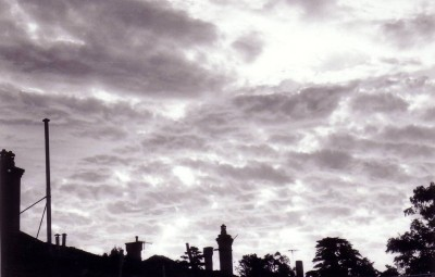 Chimneys at sundown.