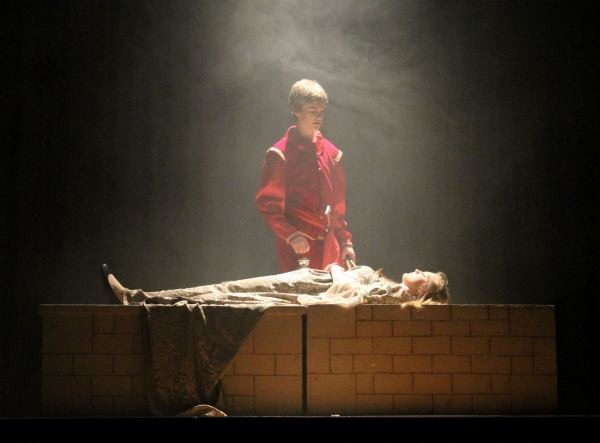 Jillian Douglas as Juliet, Callum LeRoy as Romeo,, during Almonte and District High School's Cappies production of Romeo and Juliet, on May 4, 2014, in Almonte, Ont. Photograph by: Courtesy of , Megan Grotenhuis