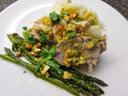 pork tenderloin with asparagus