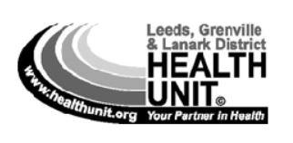 Leeds Grenville and Lanark Health Unit logo