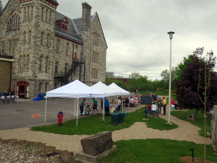 The Almonte Old Town Hall was the site for the first Eastern Ontario Active Transportation Summit on May 29 and 30.  Beside the river was a natural place to enjoy lunch.