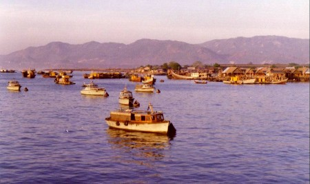 There were whole villages made up of fishing boats.  Families lived on them.