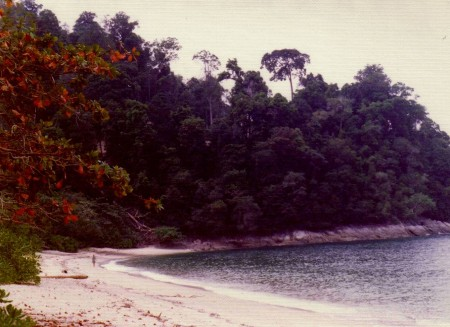 An empty beach on Pinang.