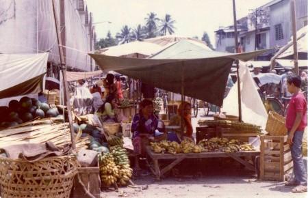 A fruit market in Georgetown.