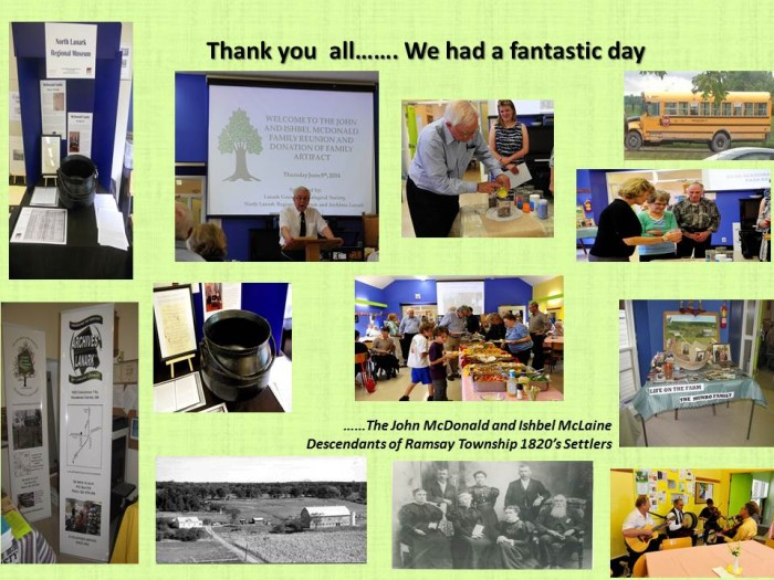 McDonald Family Reunion and Porridge Pot Donation Thank you