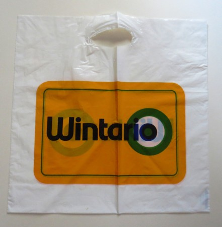 If I ever bought any lottery tickets, it's not likely that I would have carried them home in this large bag.
