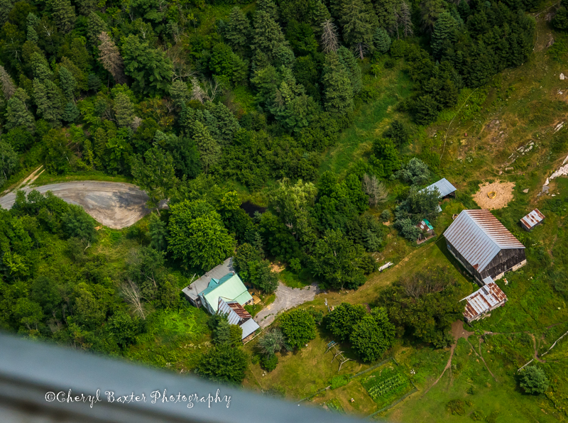 Aerial view of my house & barn.