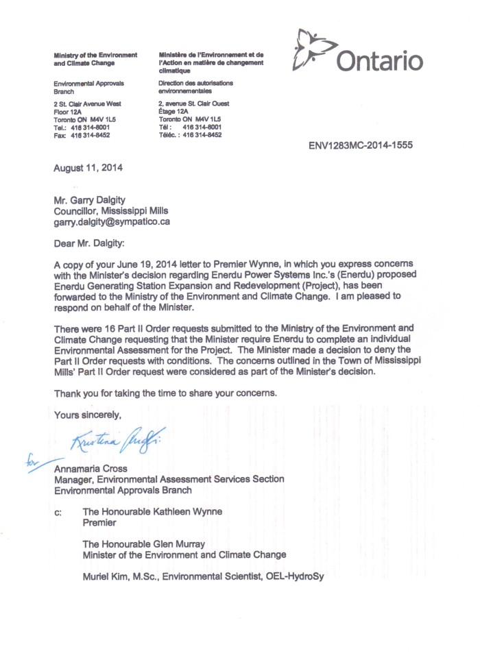 Ministry response to Dalgity's letter 001