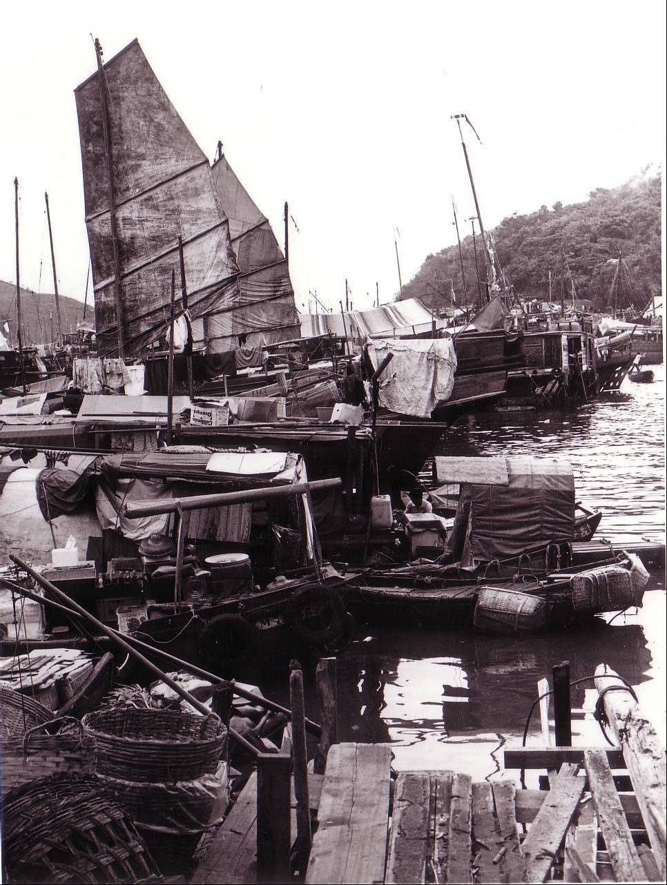 Hong Kong's backyard, where the fishing boats tie up for repairs and restocking.