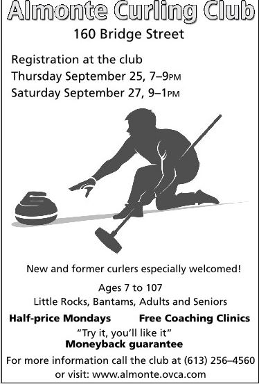 Almonte Curling Club poster