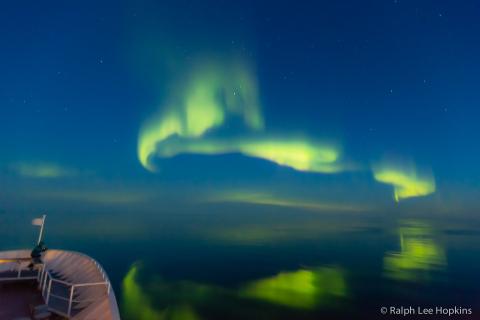 Northern Lights, Foxe Basin, Nunavut, Canadian Arctic, Canada