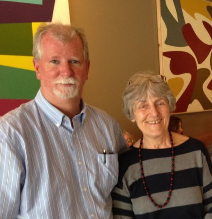 Terry Lumsden with Frances Itani