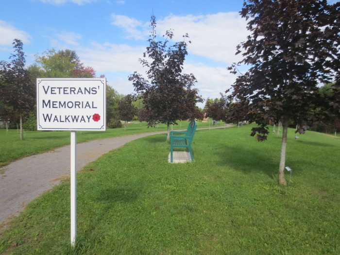 The Veterans' Memorial Walkway is a popular route for dog walkers, strollers, and joggers. Teachers and their classes from nearby Naismith Memorial Public School take the Walkway to and from the Almonte Community Centre during skating season.