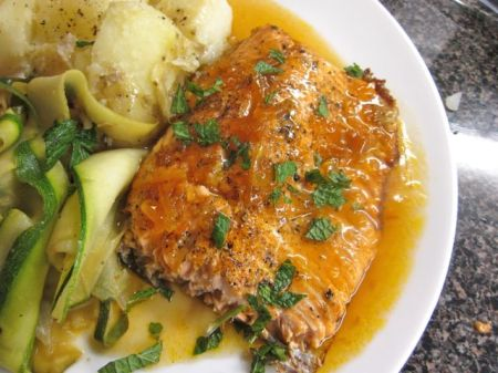 sweet and spicy trout