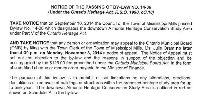 Heritage bylaw
