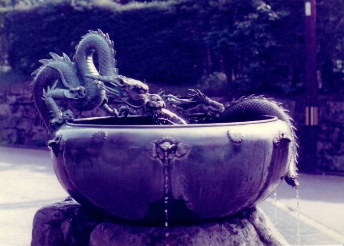 A fountain of dragons
