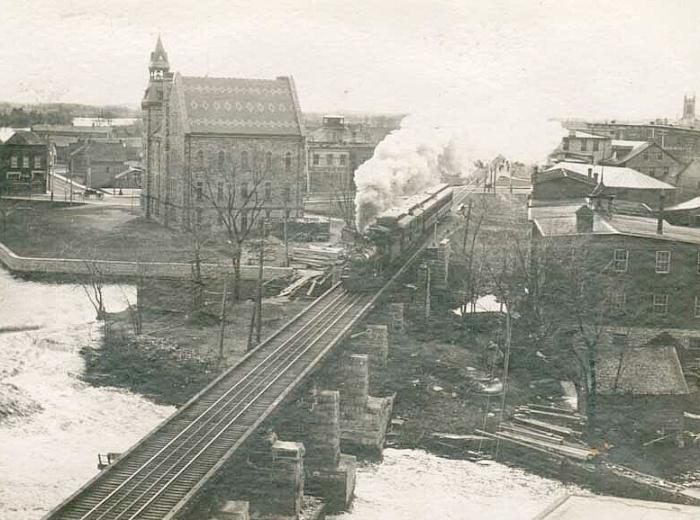 CPR Bridge With Locomotive