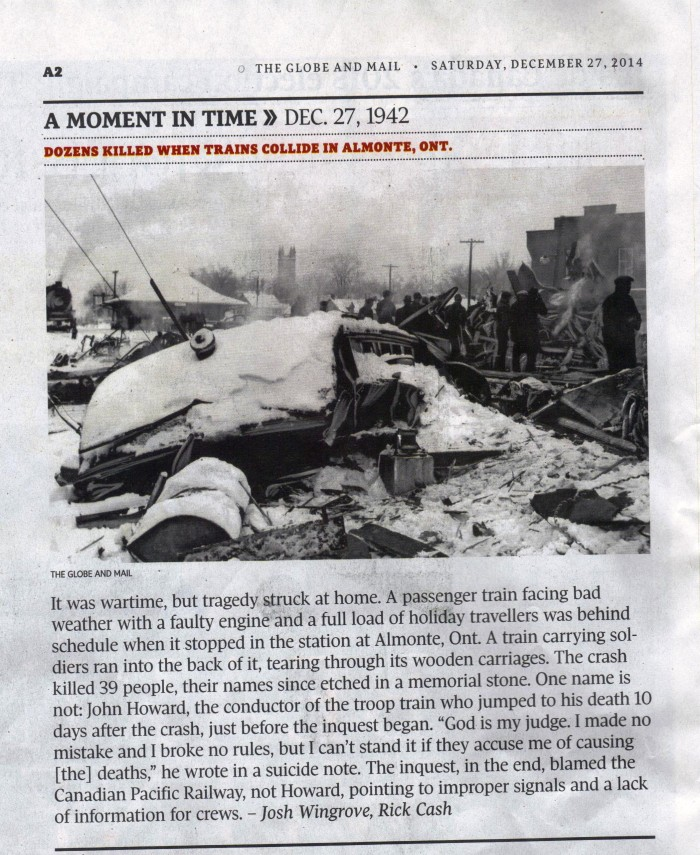 Globe and Mail moment in time - Almonte train wreck 001