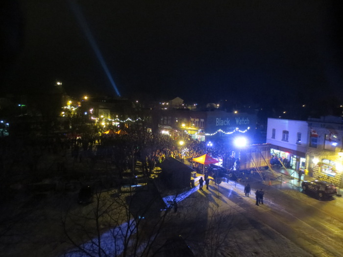 Mill Street was packed for the 23rd annual Light Up the Night celebration on Friday, December 5, in Almonte.