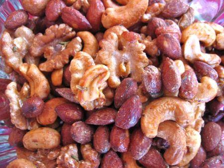 honey-rosemary glazed nuts