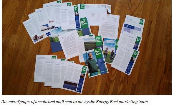Energy East marketing material