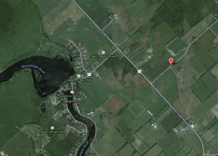 The approximate location on Turner's Road, just outside Appleton, is shown on this Google Maps image.