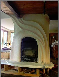 Diana Jackson - home = fireplace