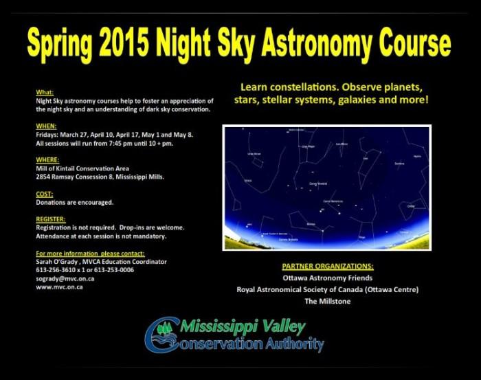 Spring 2015 Night Sky Astronomy Course