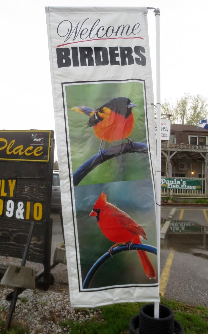 Pelee 9 Welcome Birders Banner May 5 2015
