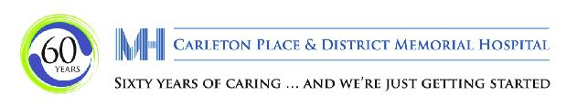 Carleton Place hospital logo - 60 years
