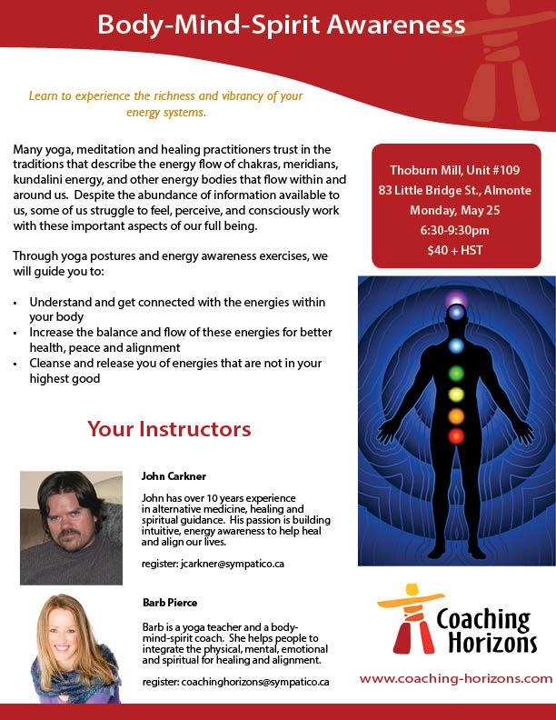 body mind spirit workshop intro