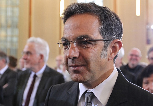 German-Iranian author Navid Kermani arrives for the awarding ceremony of the Peace Prize of the German Book Trade Association at the Paul's Cathedral in Frankfurt, Germany, on October 18, 2015. AFP PHOTO / DANIEL ROLAND (Photo credit should read DANIEL ROLAND/AFP/Getty Images)