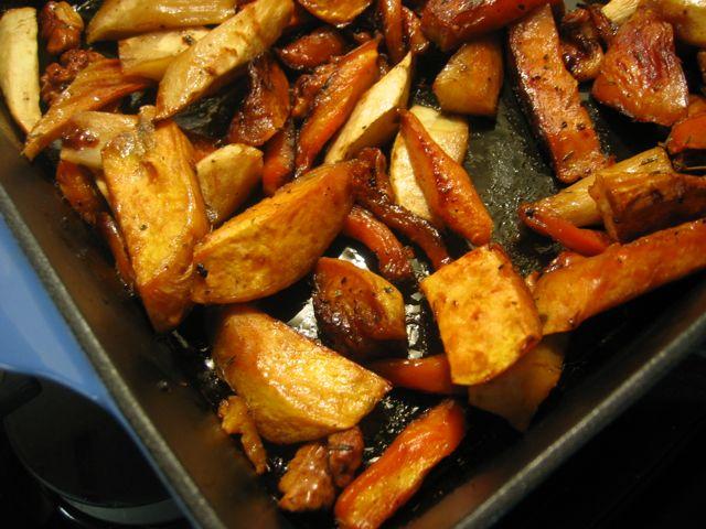 honey roasted vegetables
