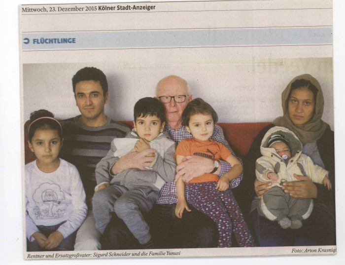 Pensioner Sigurd is now called Baaba of the children of an Afghan family.