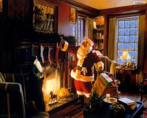 Santa on Christmas Eve